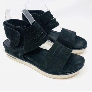 Eileen Fisher Sport Platform Suede Sandals Sz 8.5